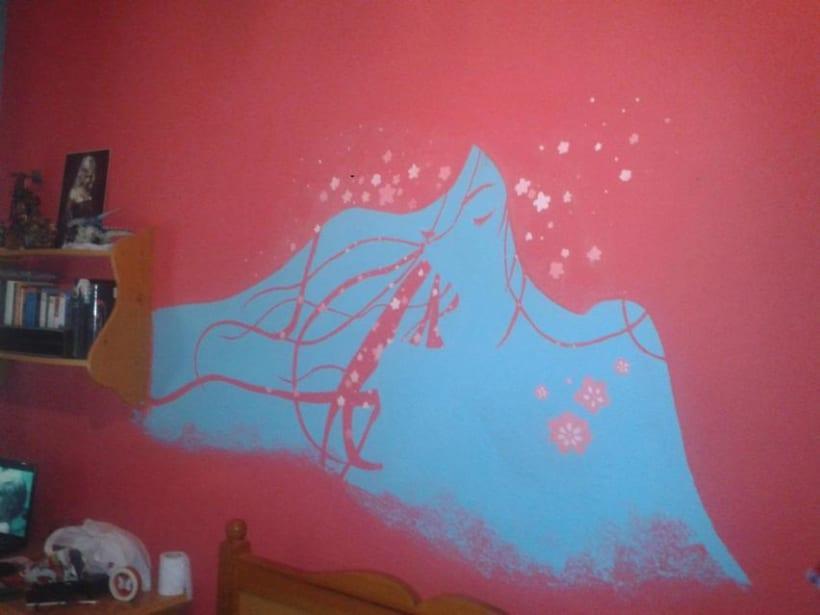 Diseño y pintado en pared - Japonesa 1
