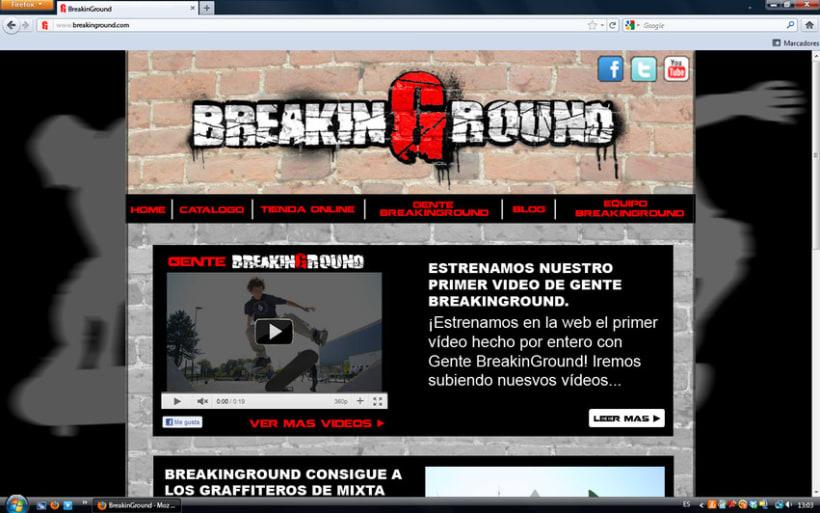 Creación de marca Breaking Ground 2