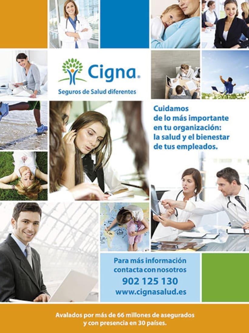 Gráfico y web para Cigna Health Insurance 6