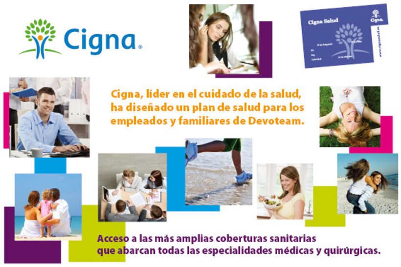 Gráfico y web para Cigna Health Insurance 22
