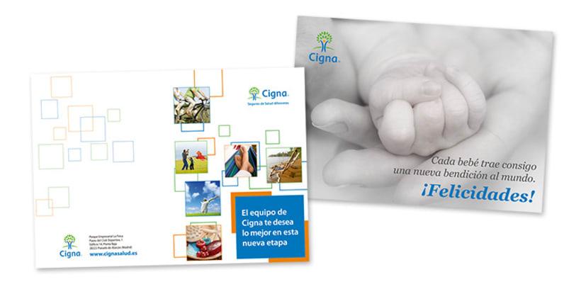 Gráfico y web para Cigna Health Insurance 20