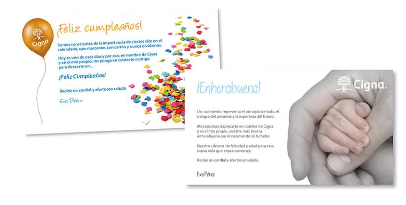 Gráfico y web para Cigna Health Insurance 19