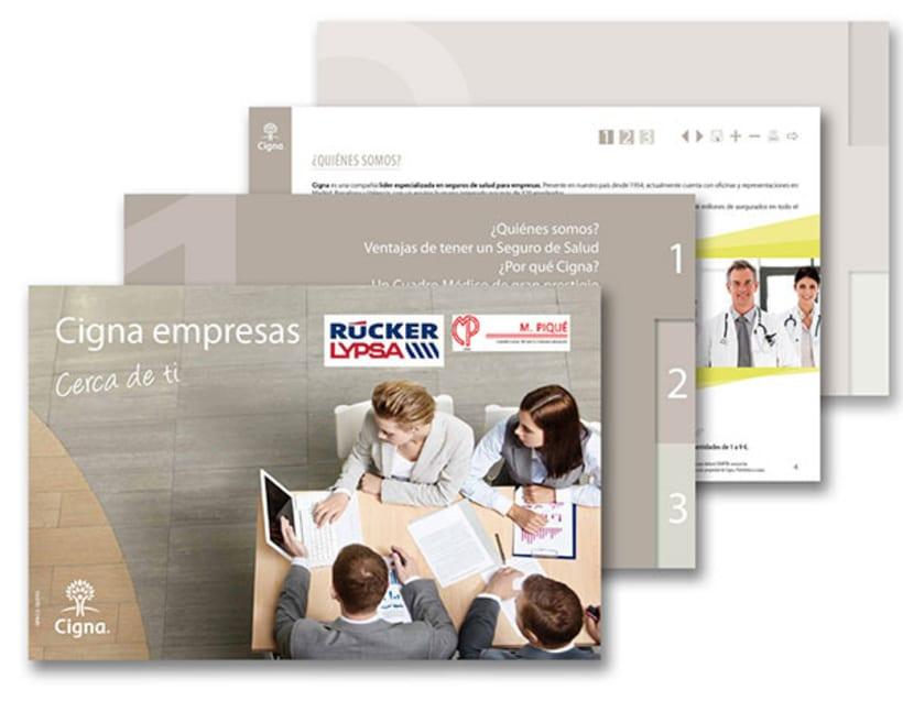 Gráfico y web para Cigna Health Insurance 16