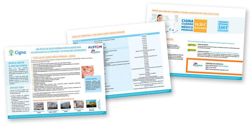 Gráfico y web para Cigna Health Insurance 15