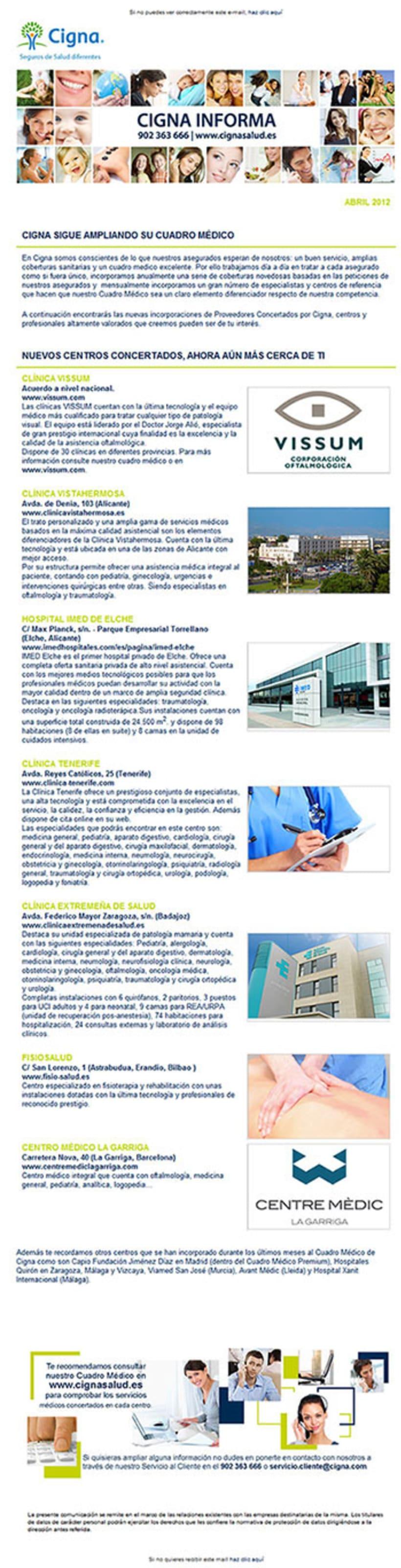 Gráfico y web para Cigna Health Insurance 2