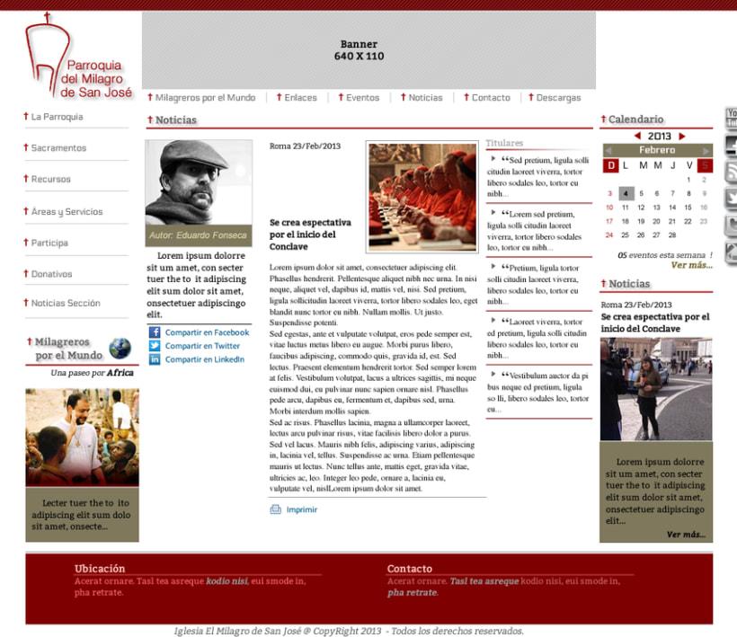 Diseño de Logotipo, Web y folletos - Parroquia El Milagro de San José 5