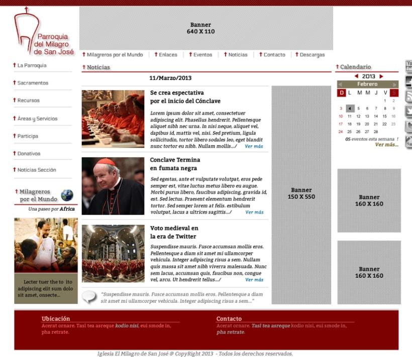 Diseño de Logotipo, Web y folletos - Parroquia El Milagro de San José 6