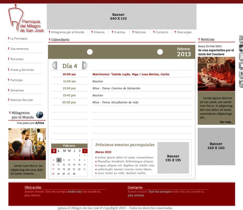 Diseño de Logotipo, Web y folletos - Parroquia El Milagro de San José 4