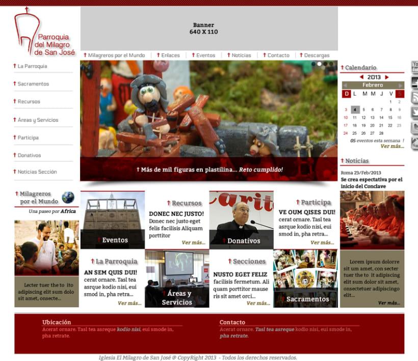 Diseño de Logotipo, Web y folletos - Parroquia El Milagro de San José 3