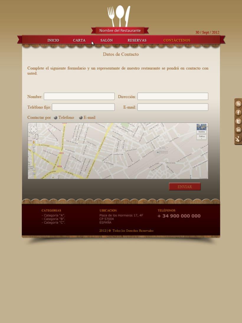 Web Hostelería 4