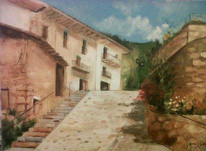 anna-gimenez-retrats-ilustraciones-retratos-encargo-portraits-sabadell-barcelona-pop-art-original-regalo-clasicos-color-carboncillo-tinta-tempera-lapiz-artista-pintura-bodegon-paisaje-paisaje-cuadro-coma-pedra-pueblo 1