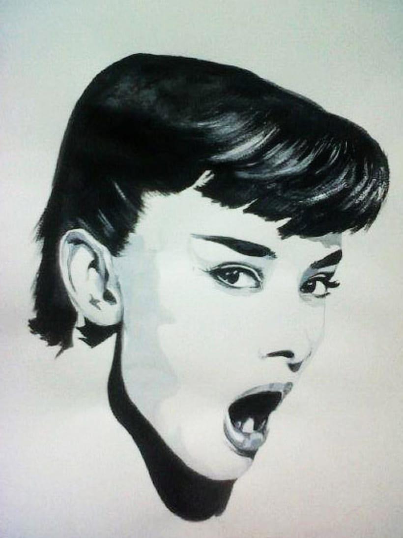 anna-gimenez-retrats-ilustraciones-retratos-encargo-portraits-sabadell-barcelona-pop-art-original-regalo-clasicos-color-carboncillo-tinta-tempera-lapiz-artista-pintura-bodegon-paisaje-audrey-hepburn-caricature 1