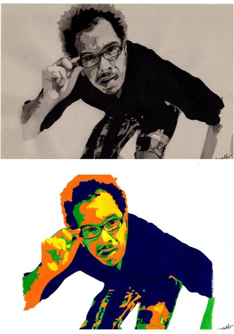 Retrato por encargo estilo Pop Art, muy alegre y original! 1