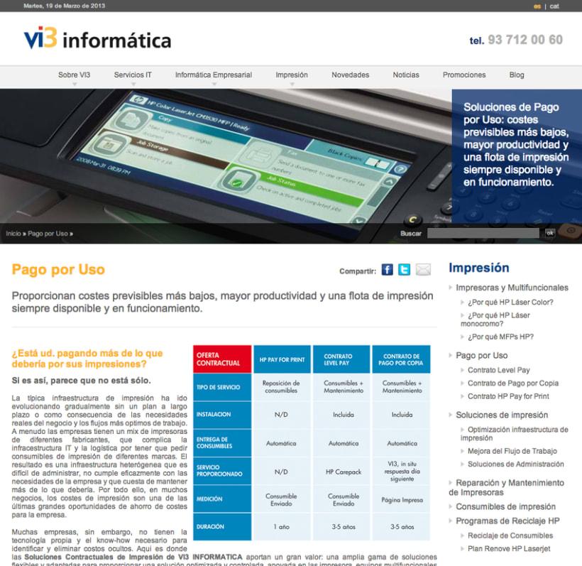 Vi3 Informática: Web Administrable 3