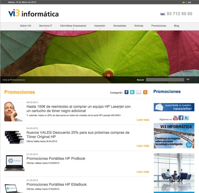 Vi3 Informática: Web Administrable 2
