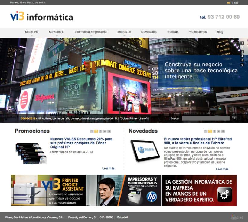 Vi3 Informática: Web Administrable 1