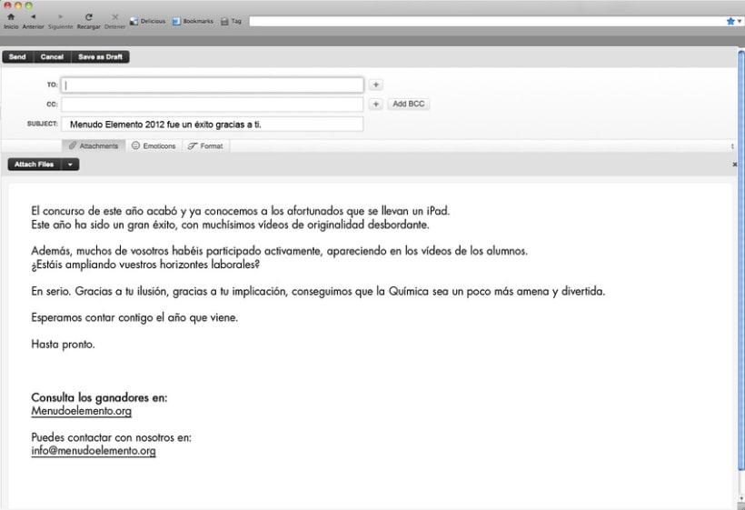 Menudo Elemento. Concursos. Redes Sociales. 9