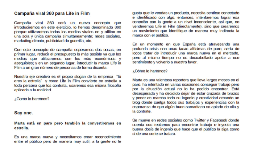 Campaña Viral 360º Life in Film 1