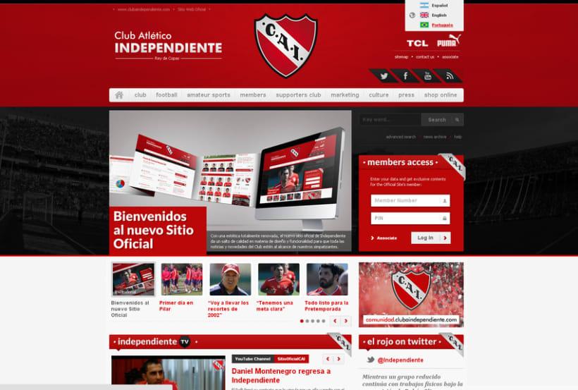 Sitio Web Oficial C. A. Independiente 2