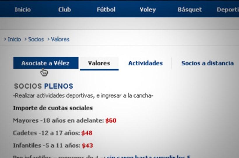 Sitio Web Oficial Vélez Sarsfield 23