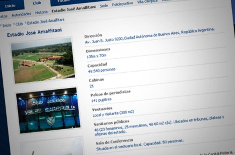 Sitio Web Oficial Vélez Sarsfield 13