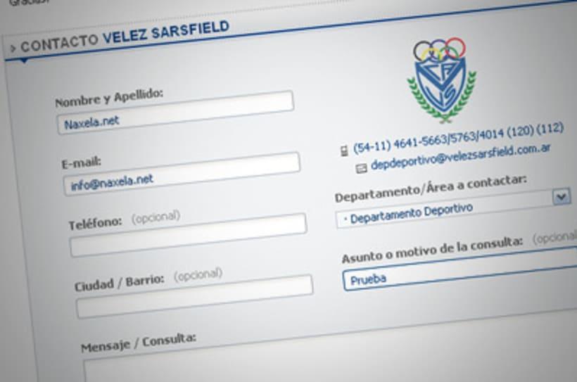 Sitio Web Oficial Vélez Sarsfield 8
