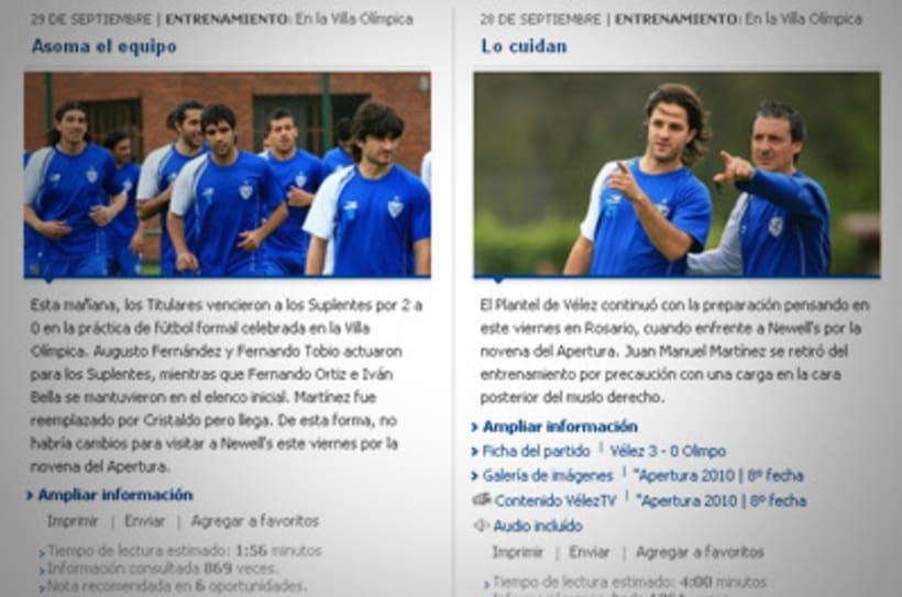 Sitio Web Oficial Vélez Sarsfield 5