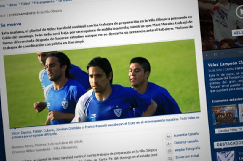Sitio Web Oficial Vélez Sarsfield 4