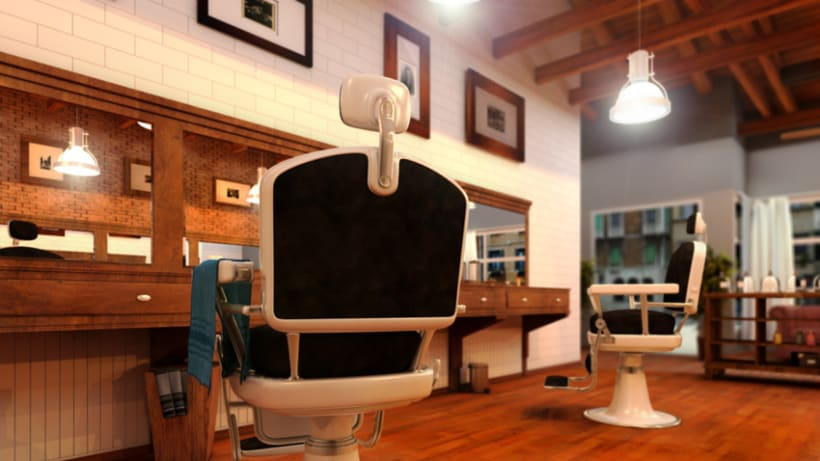 Retro barber's shop 1
