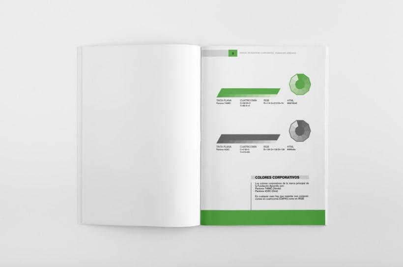 Manual de Identidad Corporativa Fundación Aprendis 4