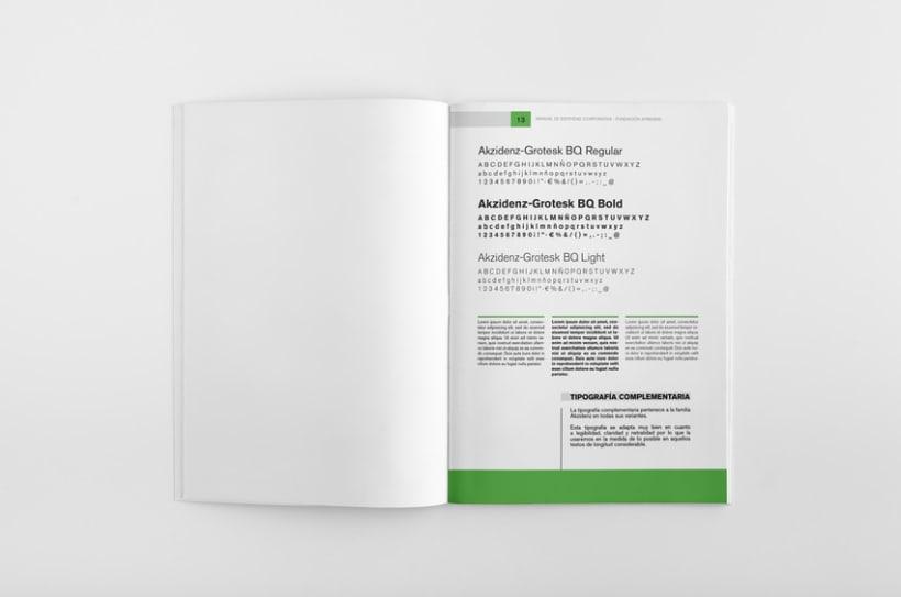 Manual de Identidad Corporativa Fundación Aprendis 5