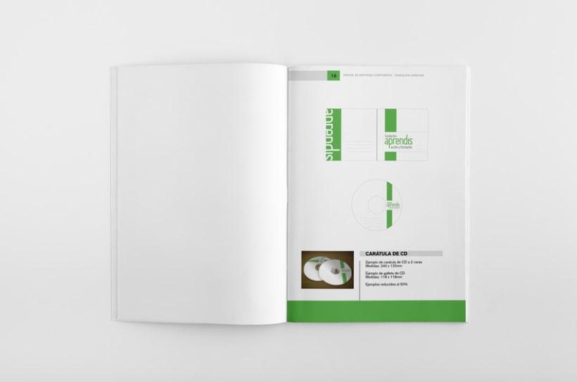 Manual de Identidad Corporativa Fundación Aprendis 6