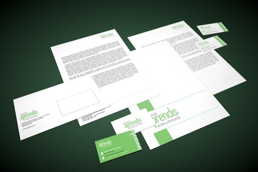 Manual de Identidad Corporativa Fundación Aprendis 8