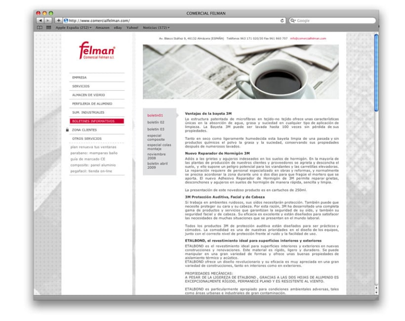 web comercial felman 2