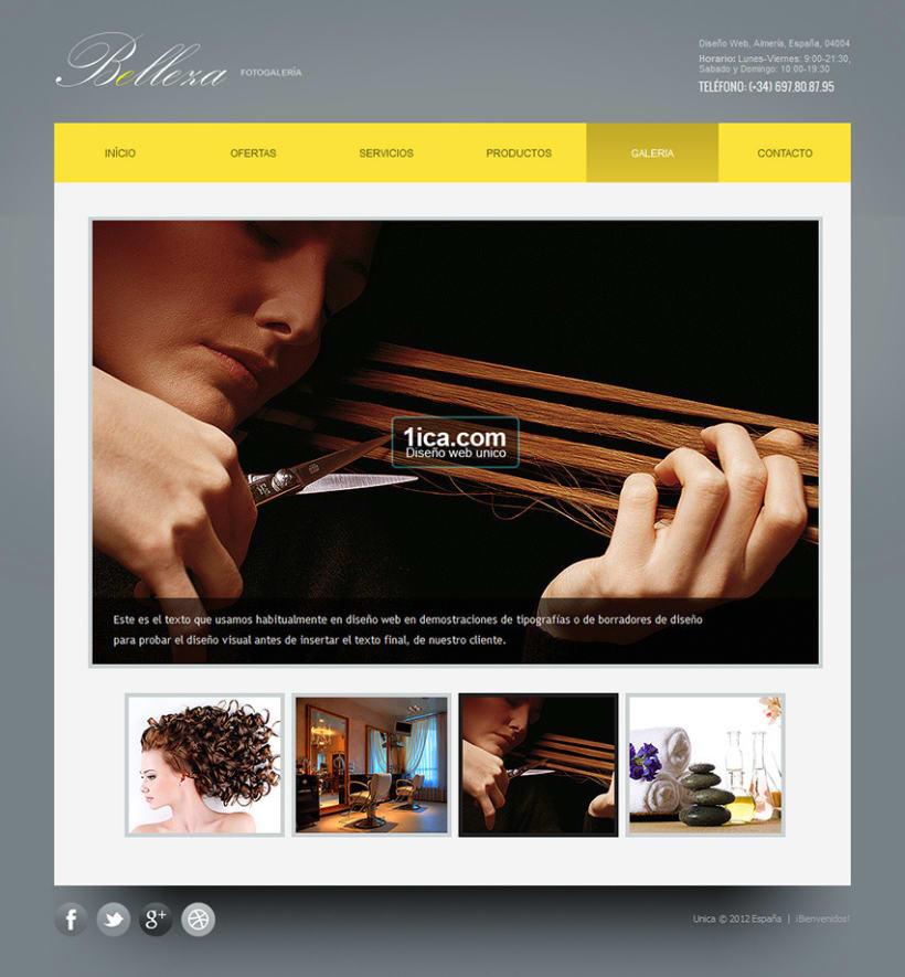 Belleza - Creación de sitios web  1