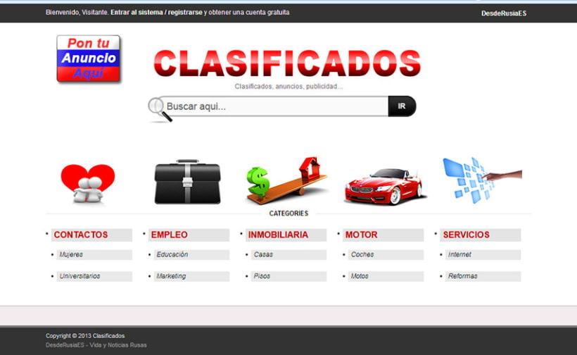 Clasificados: Programación sitio web. 1
