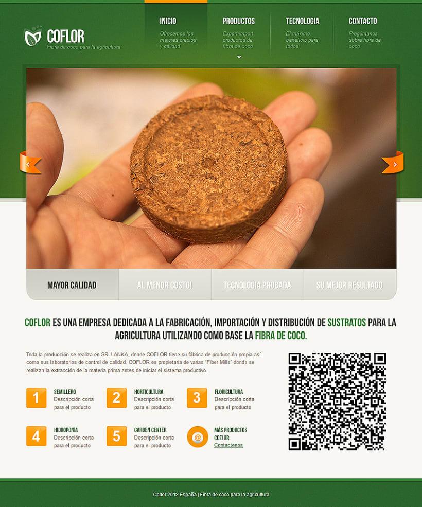 Agricultura. Diseño del sitio web  1