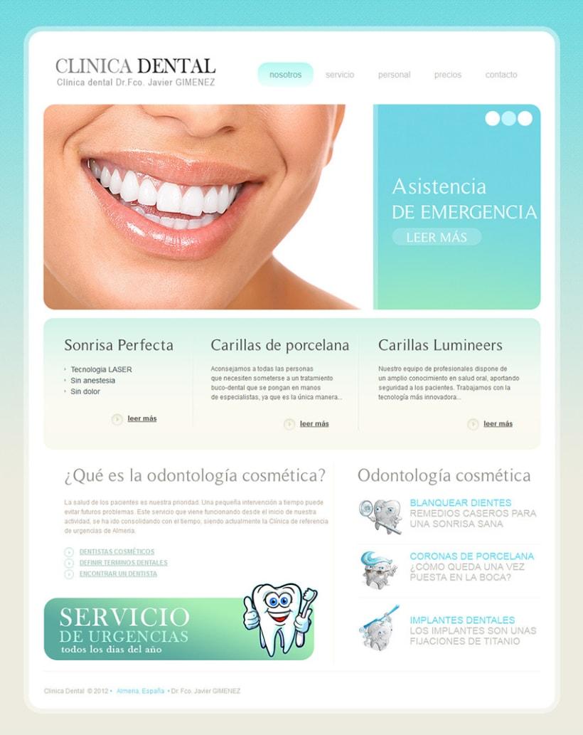 Clínica Dental. Diseño Web 1