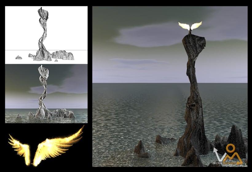 Diseño e ilustración 3D 3