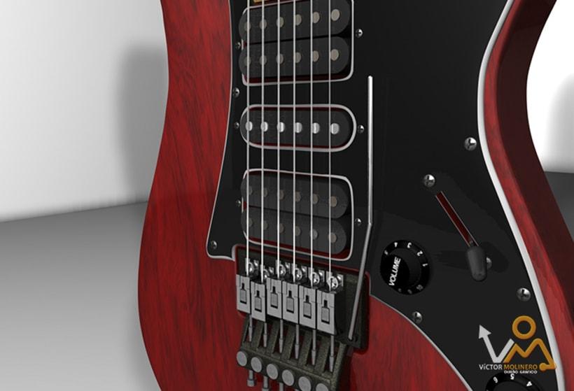 Escena Guitarras 3D 1