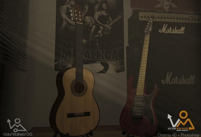 Escena Guitarras 3D 9