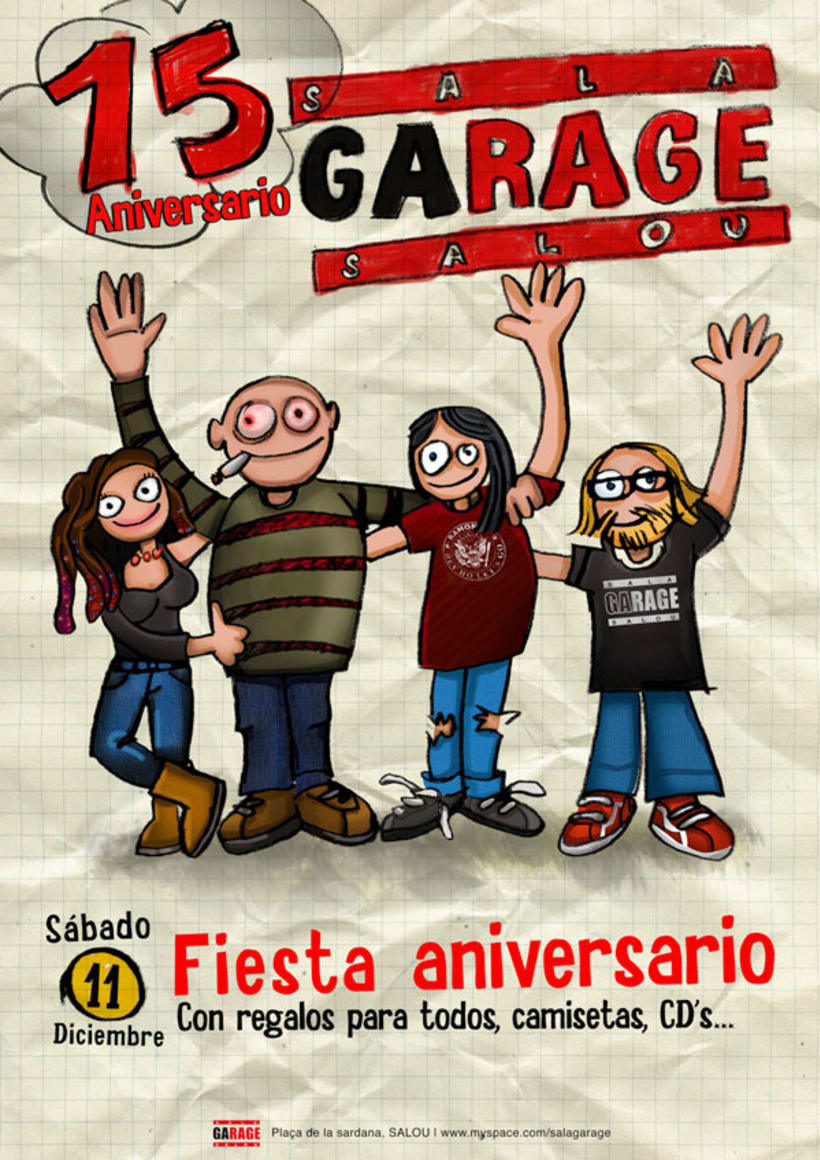 Cartel aniversario Sala Garage 1
