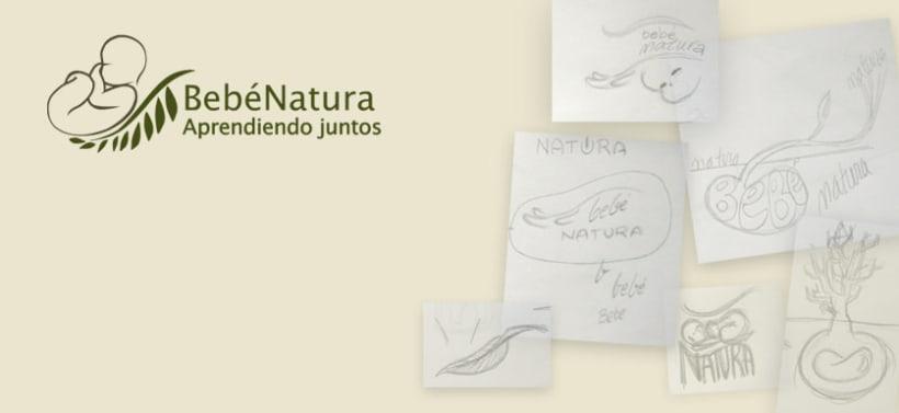 Logo e ilustraciones para BebéNatura 3