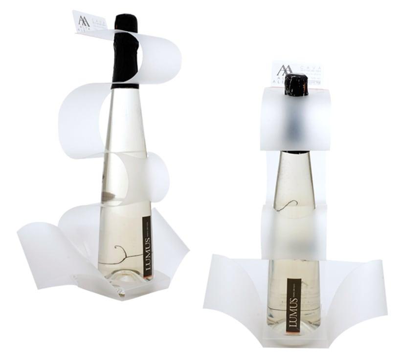 Packaging/PLV para una botella de Blanc de Noirs 4
