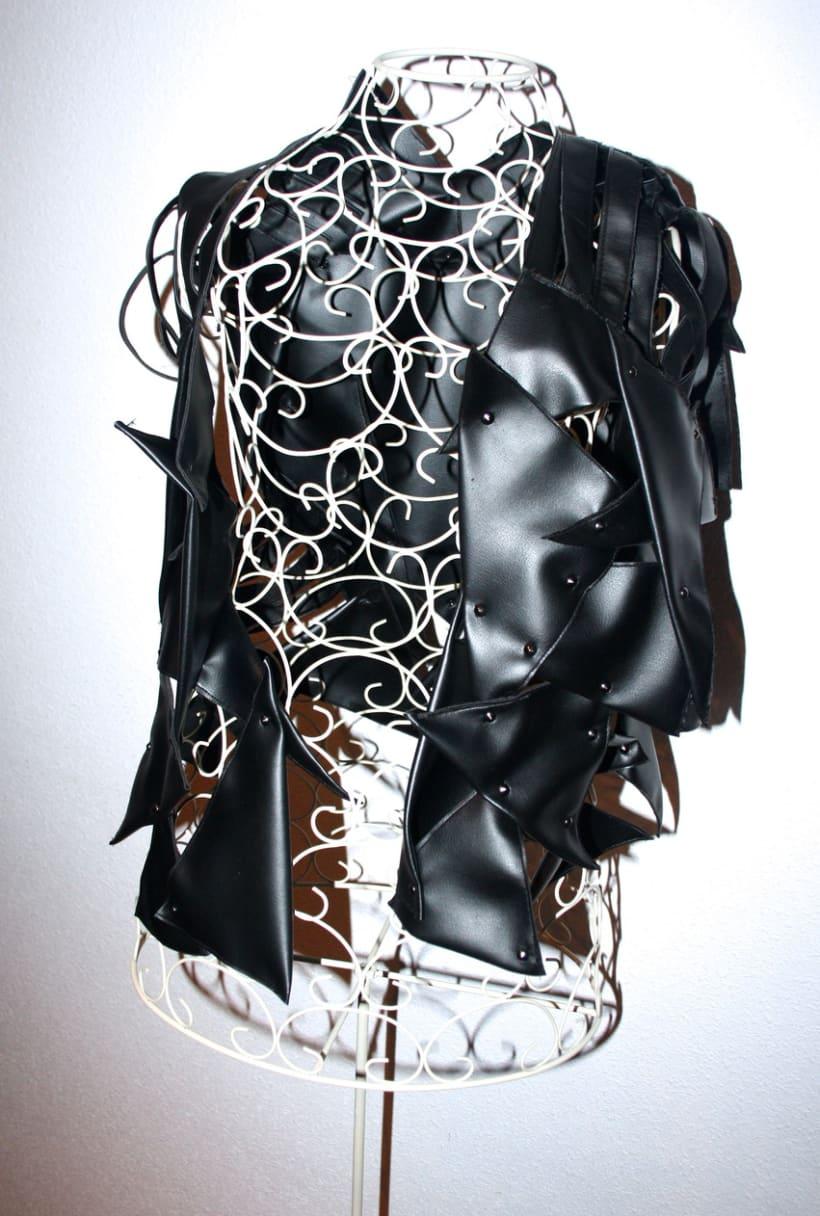 Black and shiny. 5