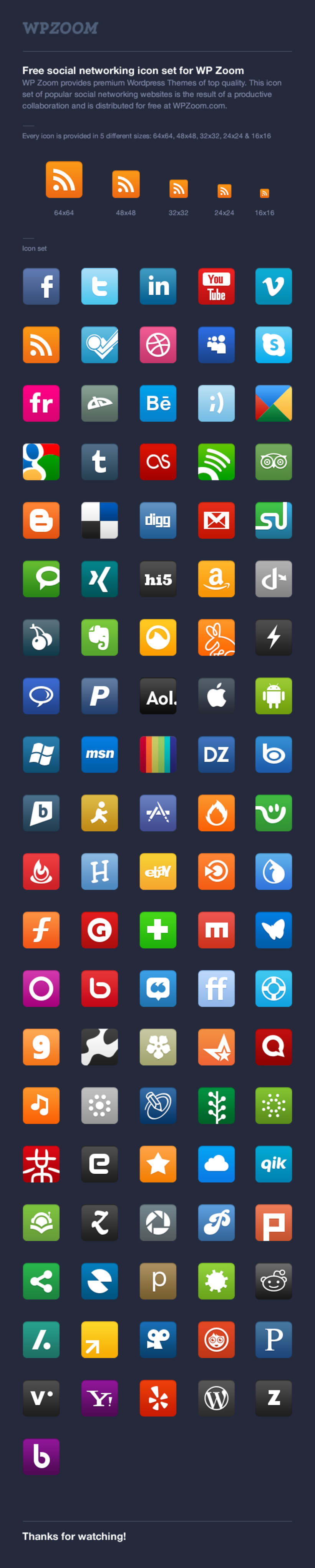 WP Zoom Social Icon Set 1