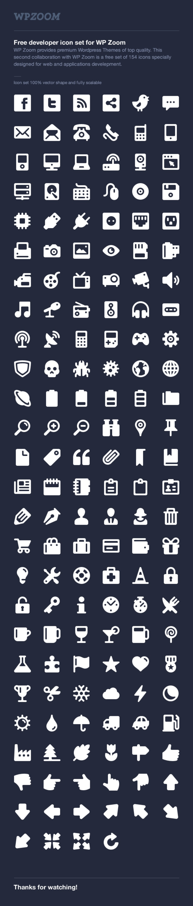 WP Zoom Developer Icon Set 1