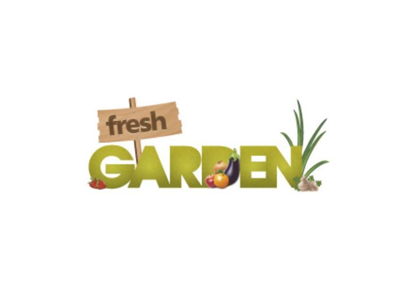 """Logotipo """"Fresh Garden"""" 1"""