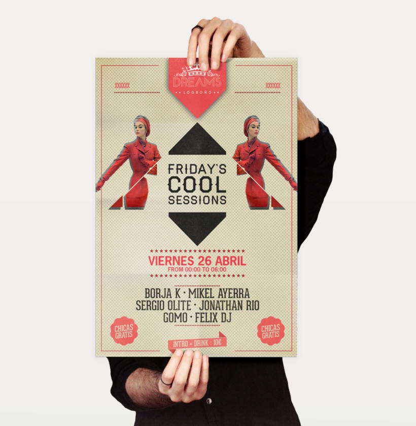 Friday Cool Sessions Logo & Poster 4