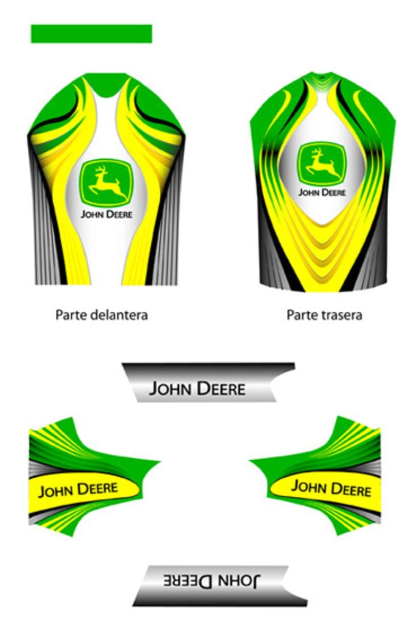 Maillot ciclista (diseño corporativo JOHN DEERE) 8